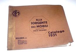 Architettura Arredamento Milano Catalogo Mobili Colombo 1^ Ed. 1931 - Altre Collezioni