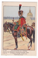 Jolie CP Ill. Pierre Benigni (1878-1956), 147e Série, 10 1er Empire, Chasseurs à Cheval, Grande Tenue, Fin 1800 - Uniformes
