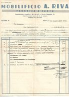 FAT66 - FATTURA 1939 MOBILIFICIO A. RIVA - MILANO - - Italia