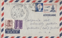 KOREA  37oo  Uprated  Aerogram To USA    #  09340     D - Korea (...-1945)