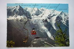 Chamonix Mont Blanc (74) Aiguille Du Midi-mont Maudit-dome Et Aiguille Du Gouter-glacier Des Bossons-tunnel Du Mont - Chamonix-Mont-Blanc