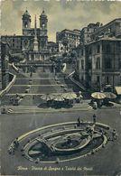 D1190 Rome Piazza Di Spagna E Trinita Dei Monti - Places & Squares