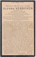 GEDACHTENISPRENTJE-ALFONS VERBOVEN-ECHTGENOOT-COLETA GIELEN+PAEL-PAAL-BERINGEN-1926-ZIE 2 SCANS-TOP ! ! ! - Images Religieuses