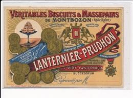 PUBLICITE : Rouzet, Veritables Biscuits & Massepains De Montbozon, Lanternier-prudhon - Tres Bon Etat - Publicité