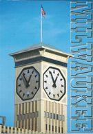 Milwaukee Clock Tower Via Macedonia - Nice Stamps - Flowers - Milwaukee