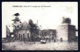 CPA ANCIENNE FRANCE- MILITARIA- VERMELLES (62)- FOSSE N° 4 OCCUPÉE PAR LES ALLEMANDS- SOLDATS ET RUINES GROS PLAN- - Guerre 1914-18
