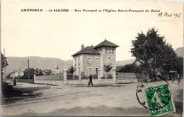 38 - GRENOBLE -- La BAJATIERE --  Rue Ponsard Et Eglise... - Grenoble
