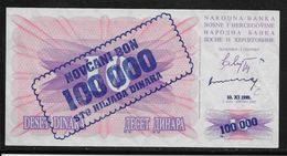 Bosnie-Herzegovine - 100000 Dinara - Pick N°34 - Neuf - Bosnië En Herzegovina