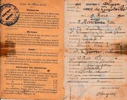 1901 - GUYOTVILLE (Algérie) - Livret De Famille - 5 Enfants - - Documentos Históricos