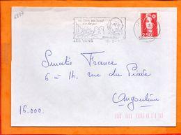 ARDECHE, Les Vans, Flamme SCOTEM N° 4887 - Marcophilie (Lettres)