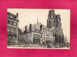 45 Loiret, Orléans, Place De L'Etape, Le Théatre Et La Cathédrale, Café Du Loiret, () - Orleans