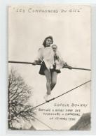 Cpsm Les Compagnons Du Ciel Sophia Dolnay Baptisée A ND Des Voyageurs  Capdenac Ed Photo Veyssiere  Vayrac Lot 46 Cirque - Circus