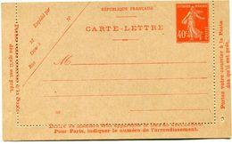 FRANCE ENTIER POSTAL NEUF (194-CL 2) - Entiers Postaux