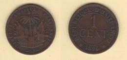 Haïti. 1 Cent 1895 A. KM #48. Pièce Non Nettoyée. TTB - Haïti