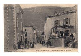Pont De Barret. Vue Prise De La Place Sur Le Tunnel. Café, Tabac. (2543) - Autres Communes