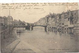 VERDUN . PONT BEAUREPAIRE . CARTE ABIMEE CAR TIMBRE ARRACHE AU VERSO . MANQUE DE PAPIER . OBLIT DU 30-9-1905 . 2 SCANES - Verdun