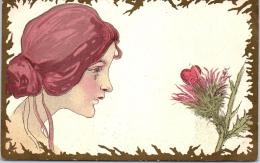 ILLUSTRATEUR -  KIRCHNER - Jeune Femme Au Chardon - Kirchner, Raphael