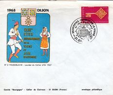 Enveloppe Illustrée -cachet 23ème Fêtes Internationales De La Vigne - DIJON - Vins & Alcools
