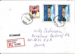 Poland Registered Cover Sent To Denmark Katowice 12-8-2003 - 1944-.... Republic