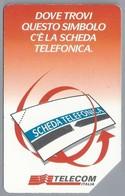 IT.- TELECOM ITALIA. SCHEDA TELEFONICA. LIRE 5.000.  DOVE TROVI QUESTO SIMBOLA C'E LA SCHEDA TELEFONICA. - Italië