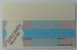 GERMANY - Eurocheque - Magnetic Specimen - 1981 - Credit Cards (Exp. Date Min. 10 Years)