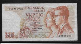 Belgique - 50 Francs - 16-5-1966 - Pick N°139 - TB - [ 2] 1831-... : Royaume De Belgique