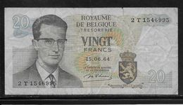 Belgique - 20 Francs - 15-6-1964 - Pick N°138 - TB - [ 2] 1831-... : Belgian Kingdom