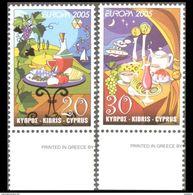 CYPRUS 2005 EUROPA CEPT MNH SET - Chypre (République)
