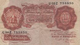 (B0748) GREAT BRITAIN, 1949-1955 (ND). 10 Shillings. P-368b. VG - …-1952 : Before Elizabeth II