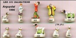 """Fèves Série Complète """"Les 101 Dalmatiens"""" Arguydal 1996 - Disney"""