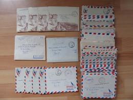Lot D'une Centaine De Lettres (avec Enveloppes FM) D'un Soldat Francais à Sa Famille Pendant La Guerre D'Algérie - Documents