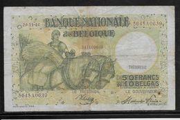 Belgique - 50 Francs  - 29-11-1944 - Pick N°106 - TB - [ 2] 1831-... : Royaume De Belgique