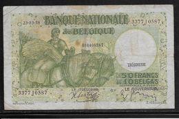 Belgique - 50 Francs  - 23-3-1938 - Pick N°106 - TB - [ 2] 1831-... : Royaume De Belgique