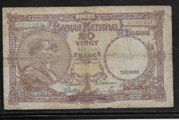 Belgique - 20 Francs  - 25-11-1944 - Pick N°111 - TB - [ 2] 1831-... : Royaume De Belgique