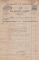 89 435 TOUCY YONNE 1890 Serrurerie EUG. BAUDRY - LESIRE Rue Philippe Verger A VEUVE PARAT Charcuterie - 1800 – 1899