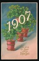 VEEL GELUK EN ZEGEN MET HET NIEUWJAAR  1907  - RELIEF  GAUFRE - Año Nuevo