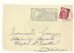 VAUCLUSE - Dépt N° 84 = VAISON La ROMAINE  1954 = FLAMME Non Codée = SECAP Illustrée ' POMPEI FRANCAISE '  Encadré - Postmark Collection (Covers)