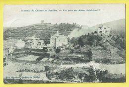 * Bouillon (Luxembourg - La Wallonie) * (Edit Stroobant, Gardien Du Chateau) Vue Prise Des Moines Saint Hubert, Kasteel - Bouillon