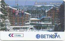 Bulgaria - Borovets Betkom Logo 47BULE, 03-1997, 35.000ex, Used - Bulgaria
