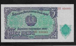 Bulgarie - 5 Leva  - Pick N°82 - Neuf - Bulgarie