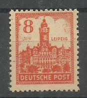 """Sowjetische Zone 160y """" 8 Pfg.-Briefmarke Zur Leipziger Messe 1946,aus Satz Gelbliches Papier """"  Postfrisch Mi.:5,00 - Zone Soviétique"""