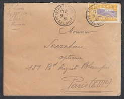 """N° 94 Sur Lettre Oblit. CAD """" Pointe Galette 31/07/30 Réunion """" Pour Paris - Réunion (1852-1975)"""