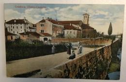 CARTOLINA   GRADISCA  Gradišče Ob Soči  1914.  DIETRO CASTELLO - Gorizia