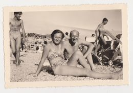 26474-  4 Photos Photo NICE FRANCE -vacances 1953 -hotel Negresco Plage - Lieux