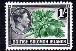 Solomon Islands 1939-51 1/- Breadfruit Definitive, Hinged Mint, SG 68 (B) - British Solomon Islands (...-1978)
