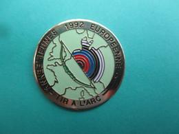 Pins Tir à L' Arc , Année Jeunes 1992 Européenne - Tir à L'Arc