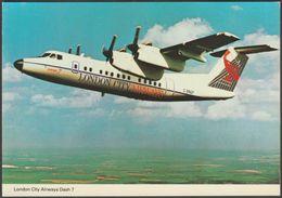London City Airways De Havilland Canada Dash 7 - ETW Dennis Postcard - 1946-....: Modern Era