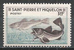 St. Pierre & Miquelon 1957. Scott #351 (M) Godfish * - St.Pierre Et Miquelon