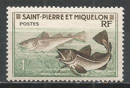St. Pierre & Miquelon 1957. Scott #352 (M) Godfish * - St.Pierre Et Miquelon