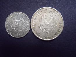 CHYPRE  = 2 MONNAIES DE  1990 - Chypre